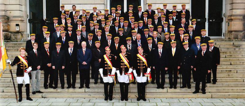 Die Altherrenschaft und Aktivitas beim 150.Stiftungsfest